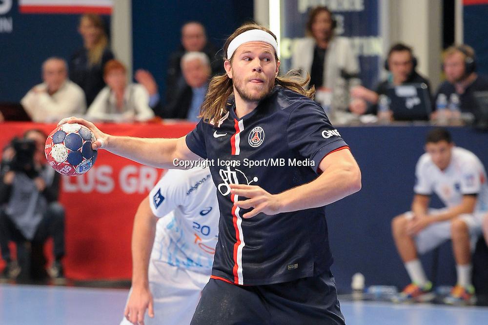 Mikkel Hansen - 03.12.2014 - PSG / Montpellier - 12eme journee de D1<br />Photo : Andre Ferreira / Icon Sport