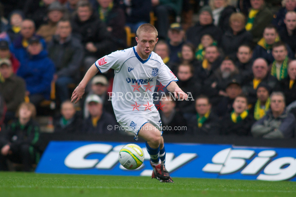 NORWICH, WALES - Saturday, November 14, 2009: Tranmere Rovers' Ryan Fraughan in action against Norwich City during the League One match at Carrow Road. (Pic by David Rawcliffe/Propaganda)