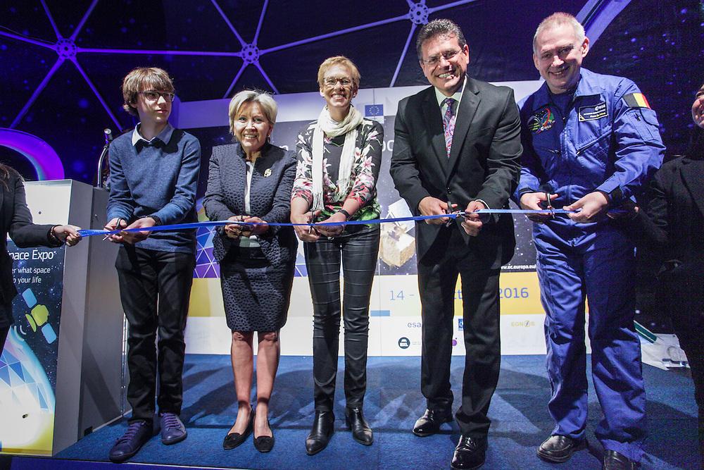Brussels. Month XXth, 2014. XXXXX . Pix: Dominique Timmens, Karine Lalieux, Frank De Winne, Maros SEFCOVIC. Credit: Pablo Garrigos