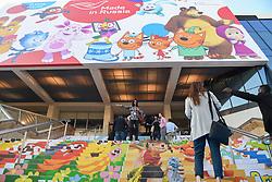 Marche international des contenus audiovisuels du 16-19 Octobre 2017, Palais des Festivals, Cannes, France.<br />Exhibition MIPCOM (International Market of Communications Programmes) at Palais des Festivals et des Congres, Cannes (Photo by Lionel Urman/Sipa USA)