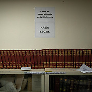 JULY 19, 2018----BAYAMON, PUERTO RICO---<br /> Law books with laws from the Puerto Rico penal code in the library in the Bayamon Correctional Complex which is made up of four buildings. The Puerto Rico Corrections and Rehabilitation Department is in the middle of a project to downsize by transferring inmates to private jails in the United States and closing institutions like this.<br /> (Photo by Angel Valentin/Freelance)