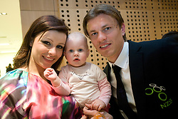 Zlatko Dedic with his wife Melisa Mulalic Dedic and daughter Sara at official presentation of Slovenian National Football team for World Cup 2010 South Africa, on May 21, 2010 in Congress Center Brdo at Kranj, Slovenia. (Photo by Vid Ponikvar / Sportida)