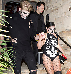 'Modern Family' star, Ariel Winter and her boyfriend Levi Meaden were seen in costume at the 'Just Jared' party at a private house in Beverly Hills, CA. 27 Oct 2017 Pictured: Ariel Winter, Levi Meaden. Photo credit: MEGA TheMegaAgency.com +1 888 505 6342