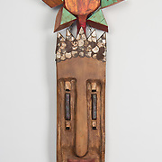 "Title: Ancient Sun King<br /> Artist: Rodney Moody<br /> Date: 1999<br /> Medium: Wood<br /> Dimensions: 16 x 7 x 45""<br /> Instructor: Gary Webernick<br /> Status: Available<br /> Location: HLC4000 Storage"