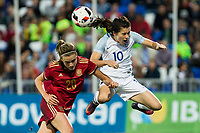Spain's Irene Paredes England's Karen Carney during the frendly match between woman teams of  Spain and England at Fernando Escartin Stadium in Guadalajara, Spain. October 25, 2016. (ALTERPHOTOS/Rodrigo Jimenez)