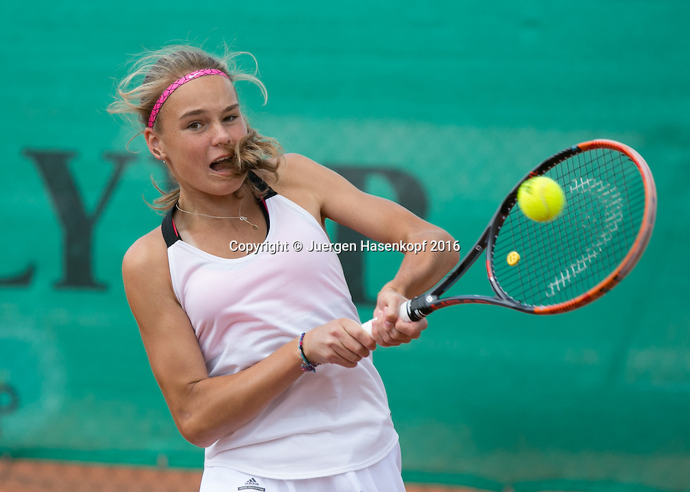 Tennis Europe-Bavarian Junior Open, Anja Wildgruber (GER) GS14<br /> <br /> Tennis - Bavarian Junior Open 2016 - Tennis Europe Junior Tour -  SC Eching - Eching - Bayern - Germany  - 11 August 2016. <br /> &copy; Juergen Hasenkopf