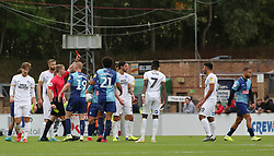 Curtis Thompson of Wycombe Wanderers is sent off by the match official - Mandatory by-line: Joe Dent/JMP - 05/10/2019 - FOOTBALL - Adam's Park - High Wycombe, England - Wycombe Wanderers v Peterborough United - Sky Bet League One