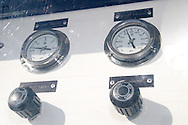 Close-up view of the gauges in the renewable hydrogen station at the Dull Family Homestead, Saturday, October 15, 2011.