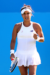 Great Britain's Heather Watson in action against Slovakia's Dominika Cibulkova during day four of the AEGON International at Devonshire Park, Eastbourne.