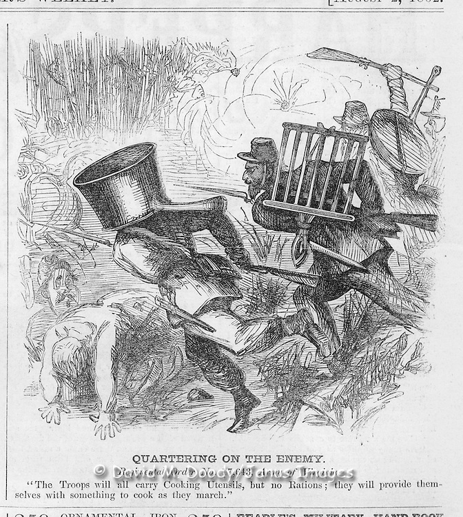 Harper's Weekly August 2, 1862 Ads & cartoons