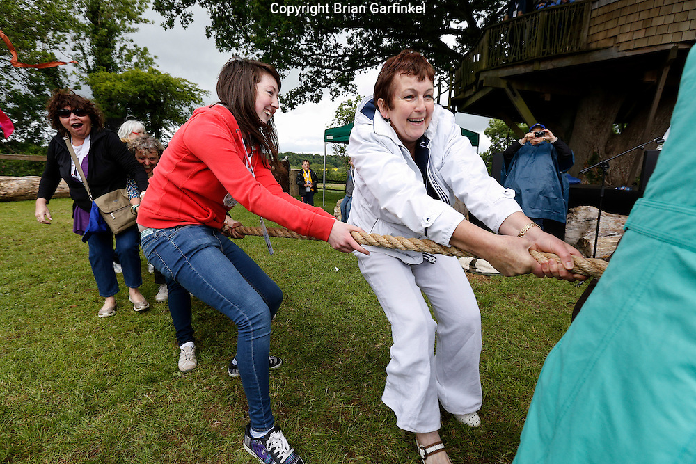 Caulfield's during the Tug of War at the Caulfield/Mulryan family reunion at Ardenode Stud, County Kildare, Ireland on Sunday, June 23rd 2013. (Photo by Brian Garfinkel)
