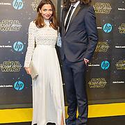 NLD/Amsterdam/20151215 - première van STAR WARS: The Force Awakens!, Georgina Verbaan en Ralph Nauta