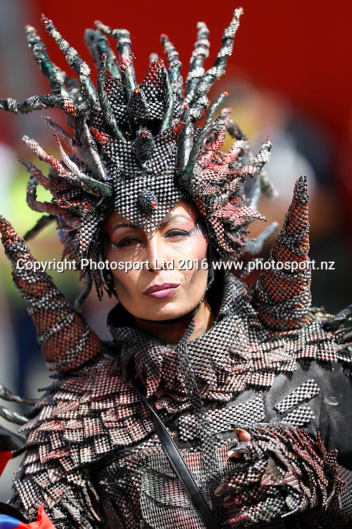 Fans, Day1, HSBC World Sevens Series, Westpac Stadium, Wellington, New Zealand. Saturday, 30 January, 2016. Copyright photo: John Cowpland / www.photosport.nz