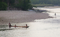 People in a boat on a river, Bardiya National Park, Nepal