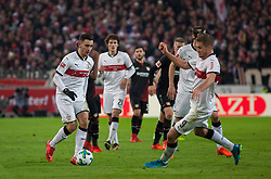 December 8, 2017 - Stuttgart, Germany - Stuttgarts Anastasios Donis initiates a counter during the Bundesliga match between VfB Stuttgart and Bayer 04 Leverkusen at Mercedes-Benz Arena on December 8, 2017 in Stuttgart, Germany. (Credit Image: © Bartek Langer/NurPhoto via ZUMA Press)