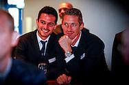 01-09-2015 VOETBAL:SPELERSPRESENTATIE WILLEM II:INTERPOLIS:TILBURG<br /> <br /> Robert Braber van Willem II (R) en Guus Joppen van Willem II (L)<br /> <br /> Foto: Geert van Erven
