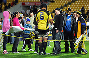 Hurricanes flanker Victor Vito signs autographs after the game.<br /> Super 14 rugby match - Hurricanes v Chiefs at Westpac Stadium, Wellington. Saturday, 1 May 2010. Photo: Dave Lintott/PHOTOSPORT