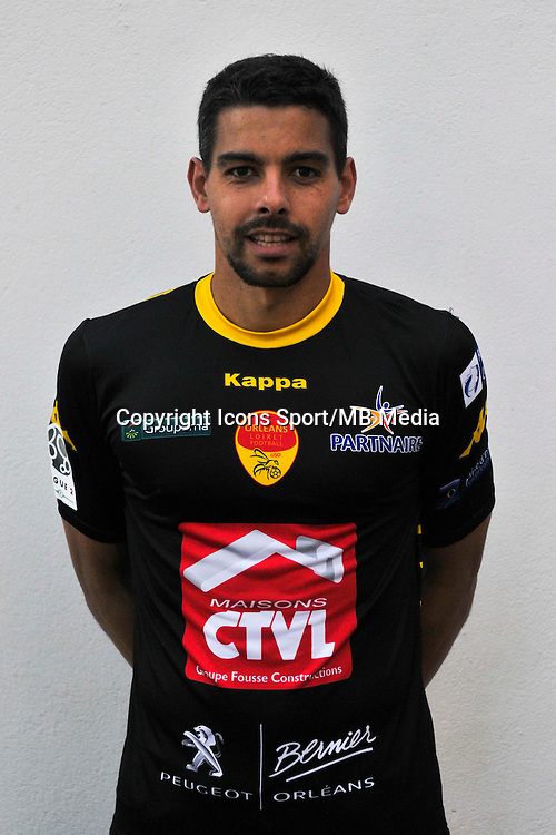 Thomas Renault - 04.09.2014 - Photo officielle Orleans - Ligue 2 2014/2015<br /> Photo : Philippe Le Brech / Icon Sport