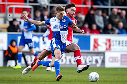 Gavin Reilly of Bristol Rovers is fouled by Matt Crooks of Rotherham United - Mandatory by-line: Robbie Stephenson/JMP - 18/01/2020 - FOOTBALL - Aesseal New York Stadium - Rotherham, England - Rotherham United v Bristol Rovers - Sky Bet League One