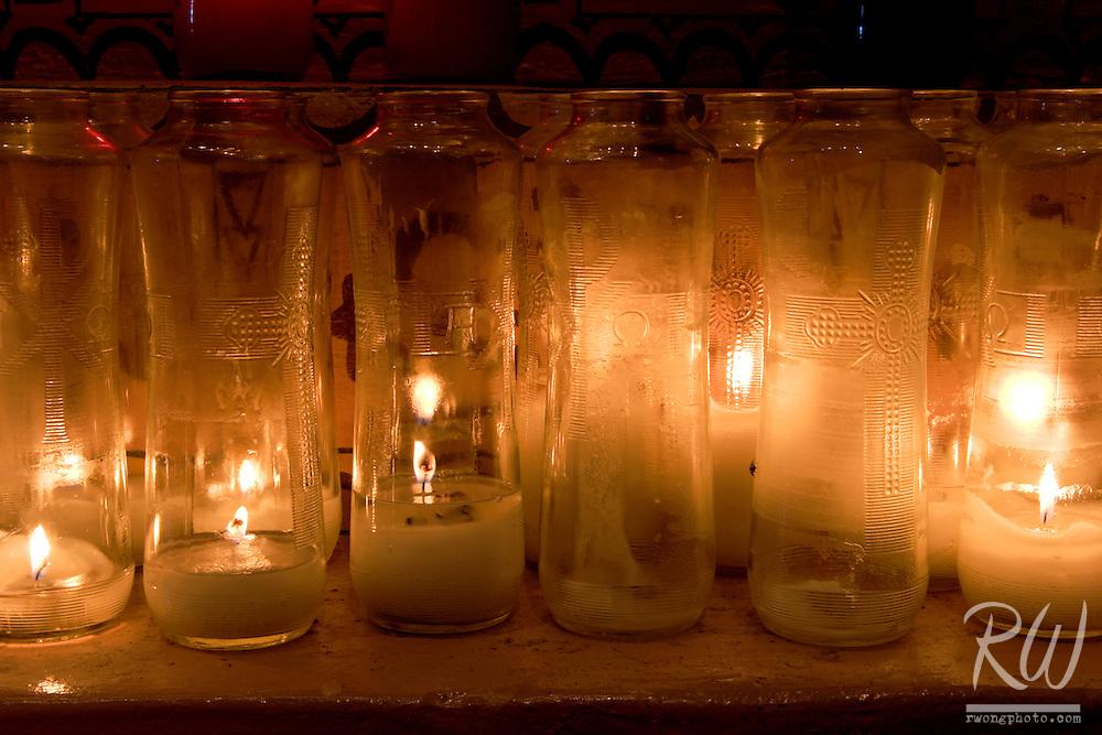 Mission San Buenaventura Devotion Candles, Ventura, California
