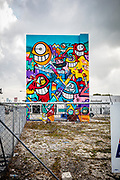 The street art culture of Miami's Wynwood district is spilling over into nearby neighborhoods, such as, in this case, on the border between Miami's Buena Vista West and the Design District