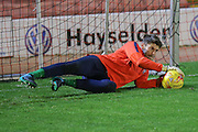 York City goalkeeper Scott Flinders during the Johnstone's Paint Trophy match between Barnsley and York City at Oakwell, Barnsley, England on 10 November 2015. Photo by Simon Davies.