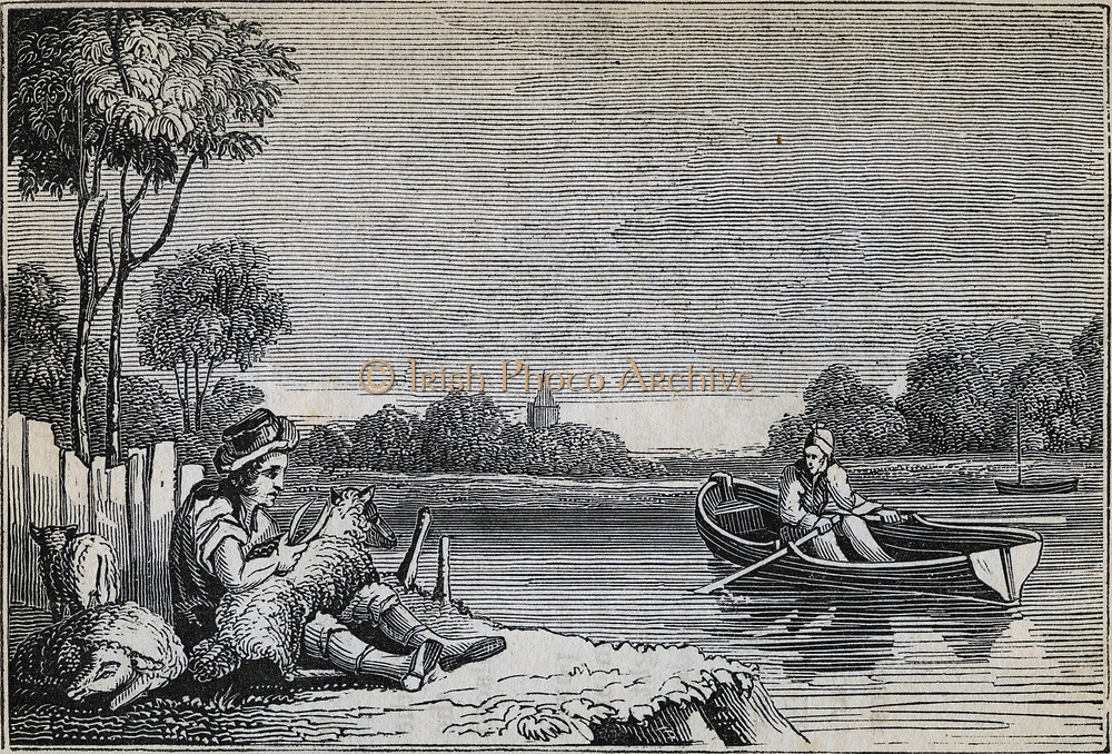 Examples of the lever: shears for shearing sheep and oars of a rowing boat. Engraving 1836.