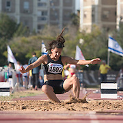 Woman long jump competition