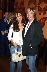 Hairdresser NICKY CLARKE and OCTAVIA COATE at a party to celebrate the publication of 'Everything I Know About Men I Learnt From My Dog' by Clare Staples held at Fifty, St.James's, London on 7th September 2005.<br /> <br /> NON EXCLUSIVE - WORLD RIGHTS