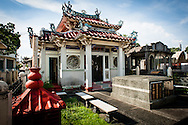 Philippines, Manila. Chinese temple at the Chinese Cemetery.
