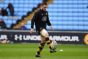 Wasps flyhalf Jimmy Gopperth (12) during the Aviva Premiership match between Wasps and London Irish at the Ricoh Arena, Coventry, England on 4 March 2018. Picture by Dennis Goodwin.