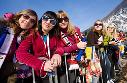 Fans during Flying Hill Individual First Round at 2nd day of FIS Ski Flying World Championships Planica 2010, on March 19, 2010, Planica, Slovenia.  (Photo by Vid Ponikvar / Sportida)