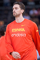Spain's Pau Gasol during friendly match for the preparation for Eurobasket 2017 between Spain and Venezuela at Madrid Arena in Madrid, Spain August 15, 2017. (ALTERPHOTOS/Borja B.Hojas)
