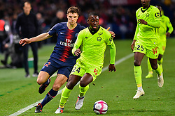 November 2, 2018 - Paris, Ile-de-France, France - Thomas Meunier #12 during the french Ligue 1 match between Paris Saint-Germain (PSG) and Lille (LOSC) at Parc des Princes stadium on November 2, 2018 in Paris, France. (Credit Image: © Julien Mattia/NurPhoto via ZUMA Press)