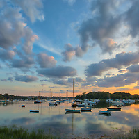 Cape Cod sunset photography at Quissett Harbor in Falmouth, MA.<br />