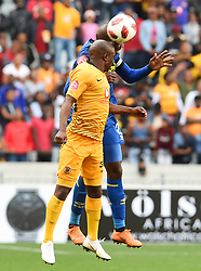 Cape Town-180915-  Cape Town City  defender Thami Mkhize wins an aerial ball when challenged  by Kaizer Chiefs Siphosakhe Ntiyantiya  in the ABSA Premiership clash at the Cape Town Stadium.City are trying to keep winning their home games and their position on the log.Photographs:Phando Jikelo/African News Agency/ANA