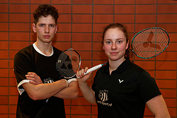 Portrait Ties van der Lecq and Debora Jille during the Dutch Championships Badminton on February 1, 2020 in Topsporthal Almere, Netherlands