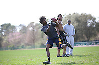 FEB  5 2014:  Dri Archer, RB, Kent State trains for the NFL Scouting Combing with Coach Tom Shaw at his facility at Disney's Wide World of Sports in Orlando, Florida. Photo by Tom Hauck.