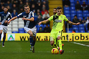 Huddersfield Town striker Jamie Paterson plays the ball during the Sky Bet Championship match between Birmingham City and Huddersfield Town at St Andrews, Birmingham, England on 5 December 2015. Photo by Alan Franklin.