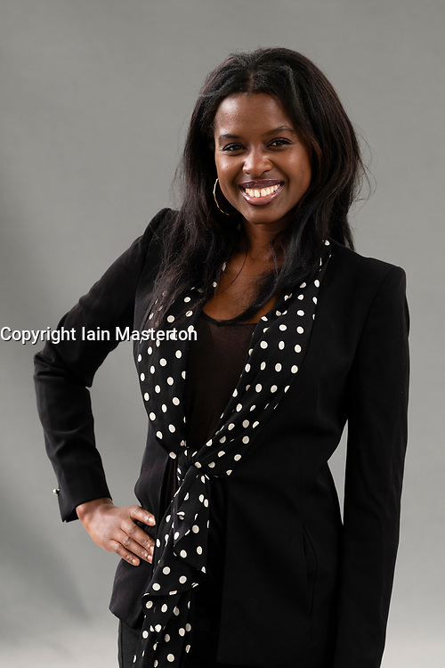 "Edinburgh, Scotland, UK; 15 August, 2018. Pictured;  Broadcaster June Sarpong. In her new book ""Diversify"" she makes case that actively seeking the unfamiliar is the key to a brighter future"