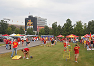 September 12, 2009: Fans talegate outside the stadium before the game between the Iowa Hawkeyes and the Iowa State Cyclons at Jack Trice Stadium in Ames, Iowa on September 12, 2009.