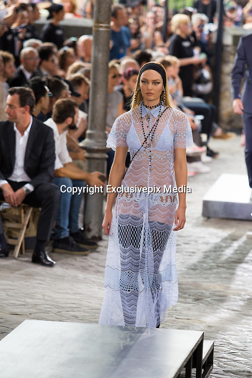 CANDICE SWANEPOEL  - TOP MODEL IN THE PARADE GIVENCHY MEN - READY TO WEAR - PARIS FASHION WEEK<br /> &copy;Exclusivepix Media