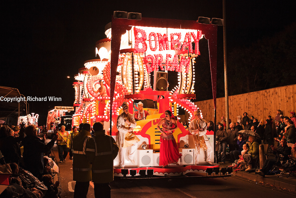 The Bombay Dream cart, entered by Lime Kiln CC in the 2010 Bridgwater Guy Fawkes Carnival.