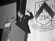 31/05/1982<br /> 05/31/1982<br /> 31 May 1982 <br /> Bord Bainne 21st anniversary. Leading representatives of the Dairy industry, farming organisations, business and Government attended a special luncheon in the Shelbourne Hotel, Dublin to celebrate the 21st anniversary of the establishment of An Bord Bainne. Speaking at the event was Tony O'Reilly, First general Manager of An Bord Bainne.