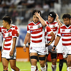 Players of Japan look dejected during the U20 World Championship match between New Zeland and Japan on May 30, 2018 in Narbonne, France. (Photo by Alexandre Dimou/Icon Sport)