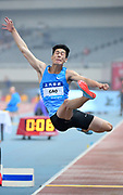 Xinglong Gao (CHN) places sixth in the long jump at 26-3 (8.00m) during the IAAF Diamond League Shanghai 2018 in Shanghai, China, Saturday, May 12, 2018. (Jiro Mochizukii/Image of Sport)