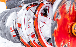 08.05.2019, Hochtor, Fusch, AUT, Schneeraeumung auf der Grossglockner Hochalpenstrasse, im Bild Schneefräse Detailansicht // Snow blower Detail view during the yearly snow removal of the Grossglockner High Alpine Road before the Season Opening at the Hochtor in Fusch, Austria on 2019/05/08. EXPA Pictures © 2019, PhotoCredit: EXPA/ JFK