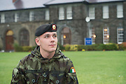 06/11/2014  20 year old Jake Stanbridge Duffy who is Lebanon Bound with the  47th Infantry Group from  in Renmore Barracks, Galway.. Photo:Andrew Downes