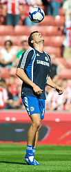 STOKE, ENGLAND - Saturday, September 12, 2009: Chelsea's Michael Ballack warms up before the Premiership match against Stoke City at the Britannia Stadium. (Pic by Gareth Davies/Propaganda)