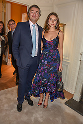 Laurent Feniou and Genevieve Gaunt at the reopening of the Cartier Boutique, New Bond Street, London, England. 31 January 2019. <br /> <br /> ***For fees please contact us prior to publication***